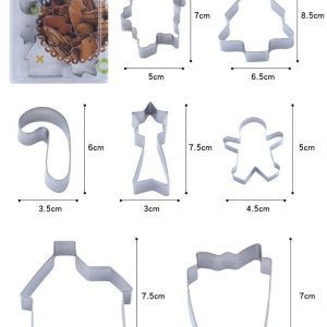 Set of 7 Christmas Cookie Cutter